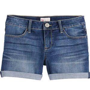 SO Shortie Dark Wash Denim Shorts